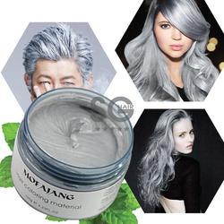 Thuốc nhuộm tóc tạm thời màu xám khói Mofajang Nhật Bản-sáp nhuộm tóc