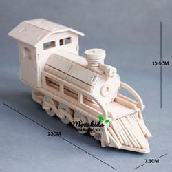 Đồ chơi lắp ráp gỗ 3D Mô hình Đầu máy xe lửa