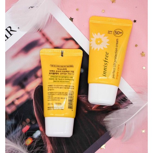Kem Chống Nắng Innisfree. Perfect UV Protection CreamTriple Care SPF50