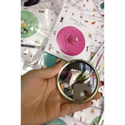 Gương tròn mini cầm tay
