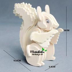 Đồ chơi lắp ráp gỗ 3D Mô hình Con Sóc
