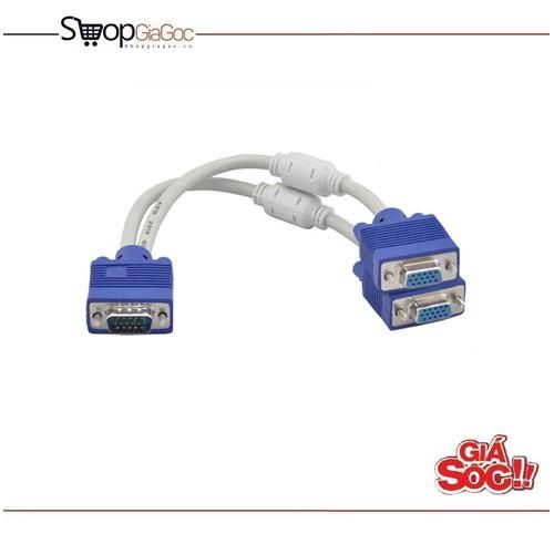 Cáp chia cổng VGA 1 ra 2 Trắng Xanh - 5442316 , 9108283 , 15_9108283 , 79000 , Cap-chia-cong-VGA-1-ra-2-Trang-Xanh-15_9108283 , sendo.vn , Cáp chia cổng VGA 1 ra 2 Trắng Xanh