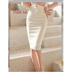 Siêu rẻ  Chân váy bút chì thiết kế lưng cao cách điệu kv27 fom chuẩn chất liệu vải nhập cho xem hàng