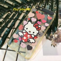 Ốp lưng Iphone 5, 5S dẻo Hello Kitty tim
