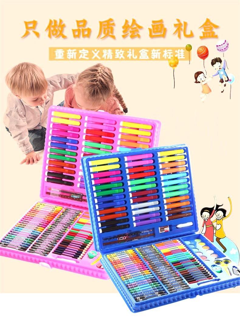Bộ bút màu 151 chi tiết cho bé - Bộ bút chì màu, màu nước, bút sáp 5