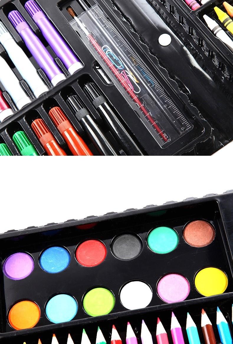 Bộ bút màu 151 chi tiết cho bé - Bộ bút chì màu, màu nước, bút sáp 4