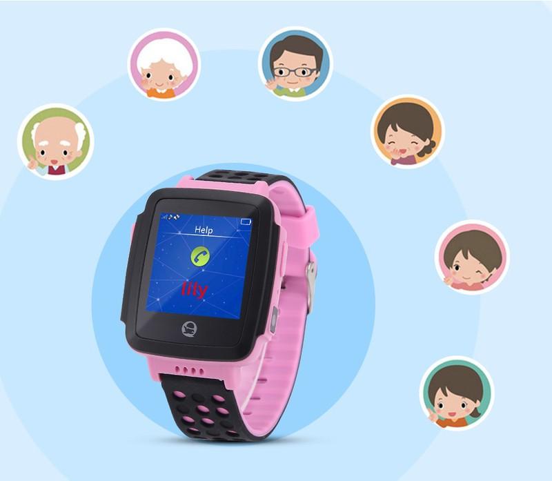 Đồng hồ thông minh định vị trẻ em GPS Tencent QQWacth C002 -Hồng tím 3