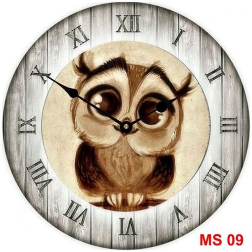 Đồng hồ treo tường phong cách cổ MS09 3