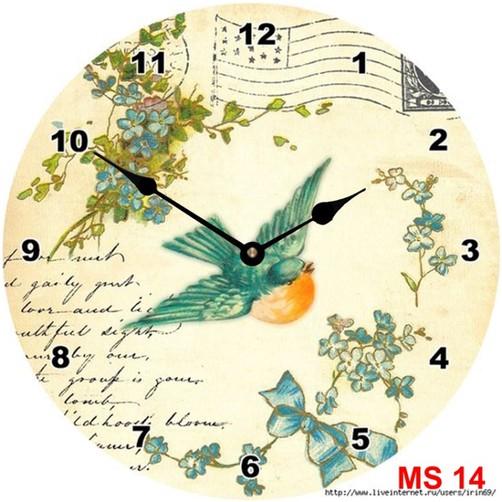 Đồng hồ treo tường phong cách cổ MS14 3