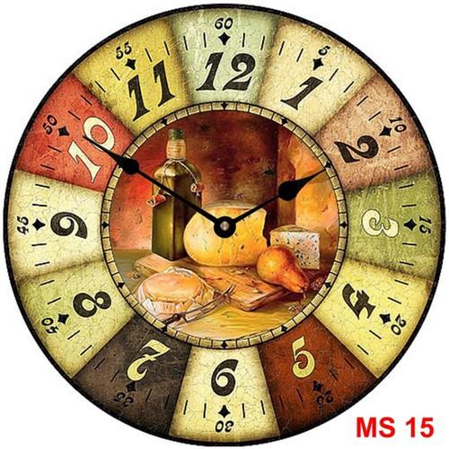 Đồng hồ treo tường phong cách cổ MS15 3