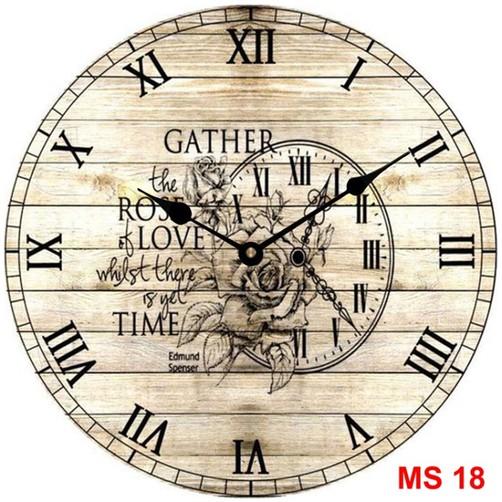 Đồng hồ treo tường phong cách cổ MS18 3
