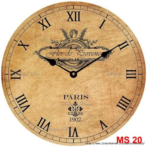 Đồng hồ treo tường phong cách cổ MS20 3