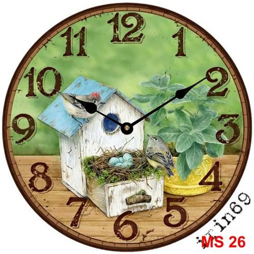 Đồng hồ treo tường phong cách cổ MS26 3