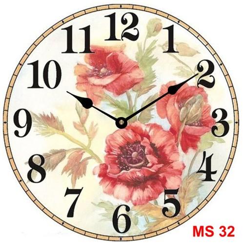 Đồng hồ treo tường phong cách cổ MS32 3