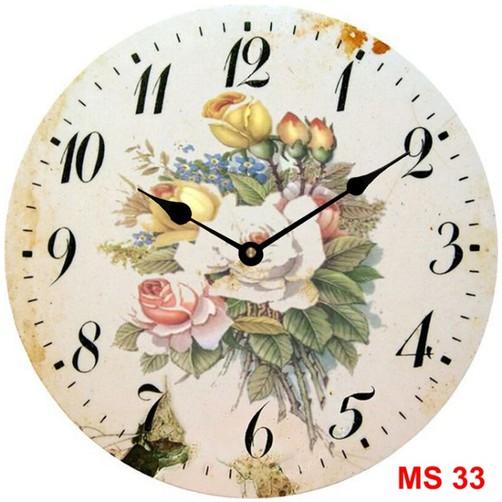 Đồng hồ treo tường phong cách cổ MS33 3
