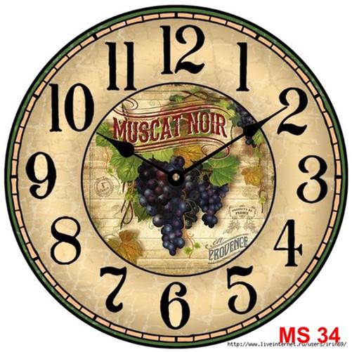 Đồng hồ treo tường phong cách cổ MS34 3