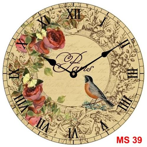 Đồng hồ treo tường phong cách cổ MS39 3