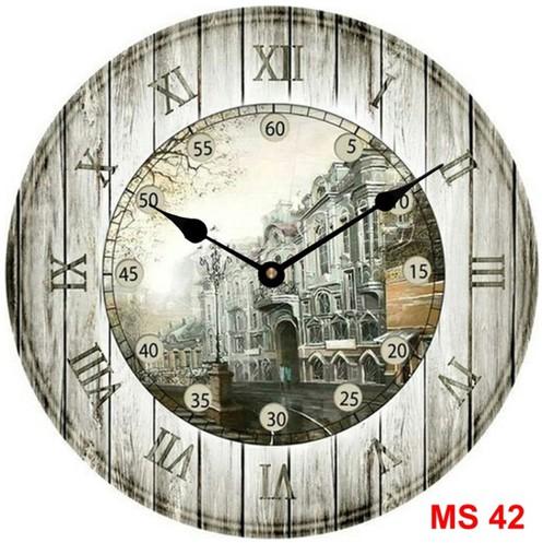 Đồng hồ treo tường phong cách cổ MS42 3