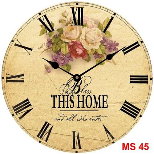Đồng hồ treo tường phong cách cổ MS45 3