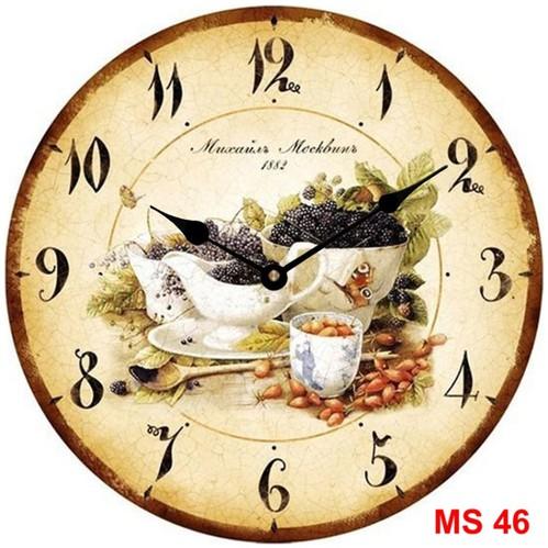 Đồng hồ treo tường phong cách cổ MS46 3