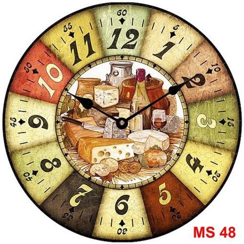 Đồng hồ treo tường phong cách cổ MS48 3