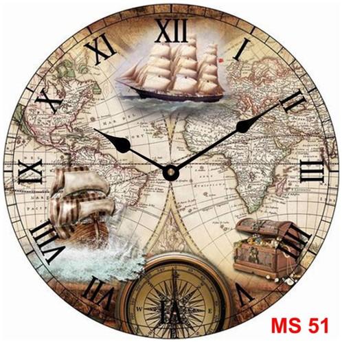 Đồng hồ treo tường phong cách cổ MS51 3