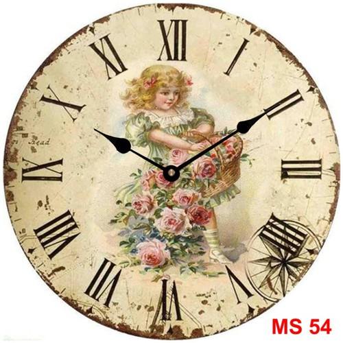 Đồng hồ treo tường phong cách cổ MS54 3