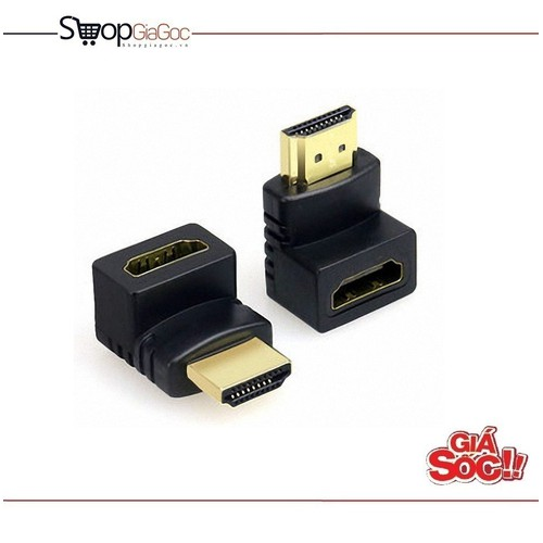 Đầu nối HDMI đổi góc chữ L 1 đầu âm 1 đầu dương - 5445215 , 9114586 , 15_9114586 , 43000 , Dau-noi-HDMI-doi-goc-chu-L-1-dau-am-1-dau-duong-15_9114586 , sendo.vn , Đầu nối HDMI đổi góc chữ L 1 đầu âm 1 đầu dương
