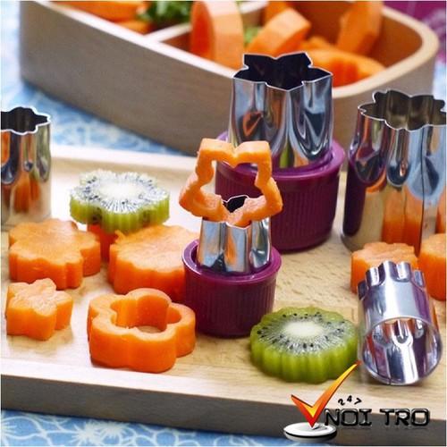 Bộ tỉa rau củ quả inox 8 món tiện dụng