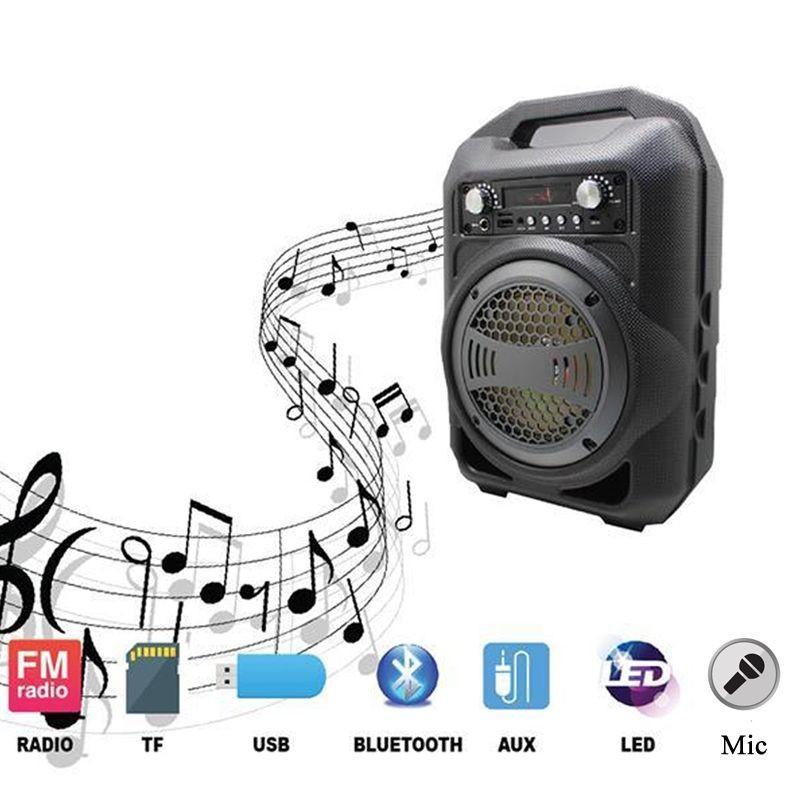 Loa Kẹo Kéo Bluetooth PKCB-BS12 Cắm Micro Thẻ Nhớ USB 9