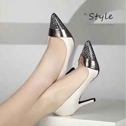 Giày cao gót mũi nhọn da beo phong cách - CG1918