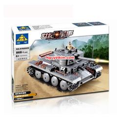Lắp ráp mô hình xe tăng bọc thép quân đội 868 khối