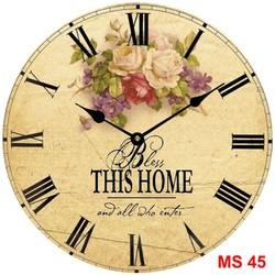 Đồng hồ treo tường phong cách cổ MS45