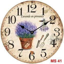 Đồng hồ treo tường phong cách cổ MS41
