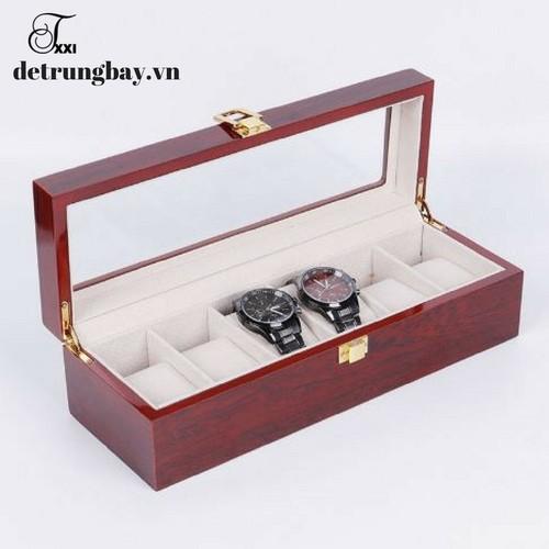 hộp đựng đồng hồ bằng gỗ 6 ngăn - 5452509 , 9130919 , 15_9130919 , 500000 , hop-dung-dong-ho-bang-go-6-ngan-15_9130919 , sendo.vn , hộp đựng đồng hồ bằng gỗ 6 ngăn