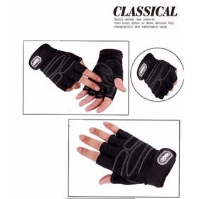 Găng tay bao tay nam cụt ngón tập gym tập thể hình - CS-GTX- Có Quấn Bảo Vệ Cổ Tay