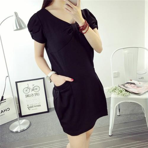 Đầm thun đen ánh kim Jessi mode hàng đẹp như hình