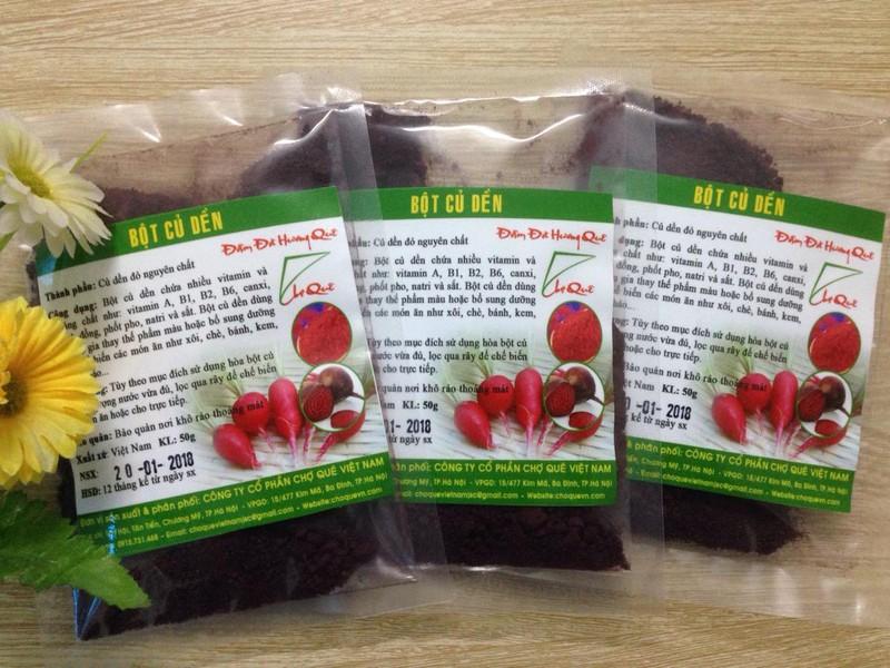 Bột củ dền khô nguyên chất Chợ Quê Việt Nam 1