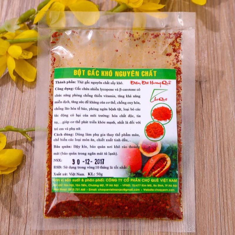 Bột gấc khô nguyên chất Chợ Quê Việt Nam 1