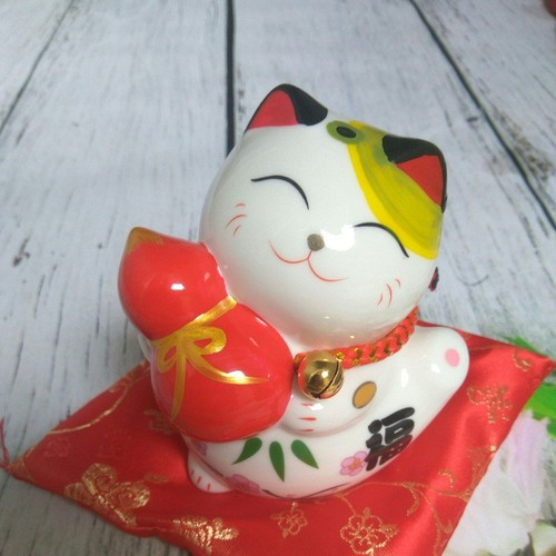 Mèo Thần Tài size 12cm Hồ Lô