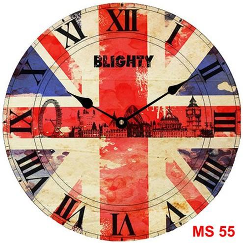 Đồng hồ treo tường phong cách cổ MS55 3