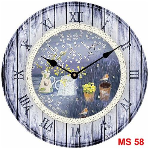 Đồng hồ treo tường phong cách cổ MS58 3