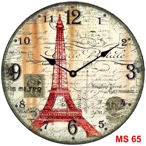 Đồng hồ treo tường phong cách cổ MS65 3