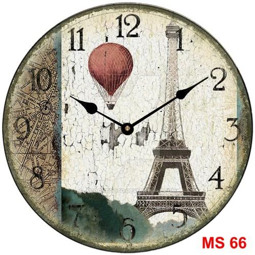 Đồng hồ treo tường phong cách cổ MS66 3