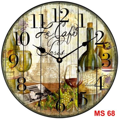 Đồng hồ treo tường phong cách cổ MS68 3