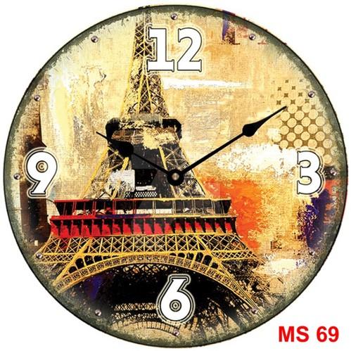 Đồng hồ treo tường phong cách cổ MS69 3