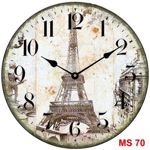 Đồng hồ treo tường phong cách cổ MS70 3