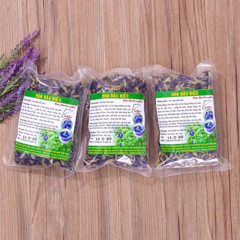 Hoa đậu biếc khô nguyên chất Chợ Quê Việt Nam 1