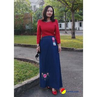 Váy chống nắng Jean cao cấp - sx Việt Nam - Vietcharm - VCNJ2 thumbnail