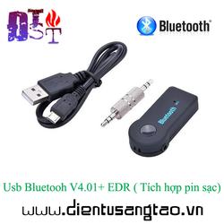 Usb Bluetooh V4.01+ EDR  Tích hợp pin sạc